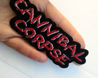 Cannibal corpse , patch vintage thermo adhesive .