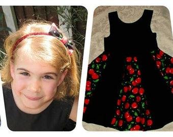 Retro Cherry Swing Dress - Handmade to your measurements