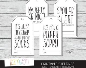 Honest Gift Tag - Sarcastic Gift Tag - Printable Gift Tags - Christmas Gift Tags - Holiday Gift Tags - Funny Gift Tags - Digital Gift Tag