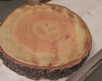 Thick Single Slice Real Wood Cake Stand