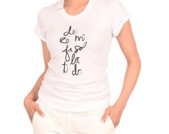 DO RE MI Choir Voice Music Ladies T-shirt