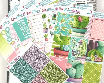 Succulent Succulents!  - 7 Sheets weekly decorating kit for your Erin Condren Life Planner!