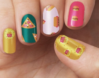 Fast food (fries before guys) Nail Polish Wraps