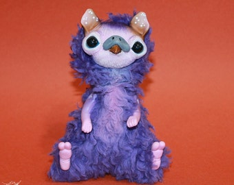 Fantasy Animal - Violet Griffin, Fantastic beast - soft toy, toys handmade