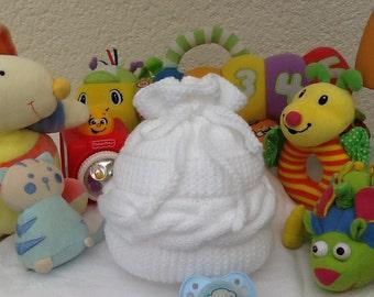 Baby layette knitting baby birth gift twist Hat