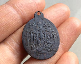1862 medallion martyrs of Nagasaki Japan Pope Pius IX