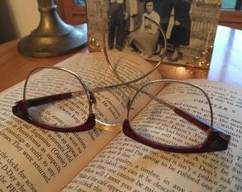 Vintage Horn Rim Eyeglasses, 12 K GF, 1950s