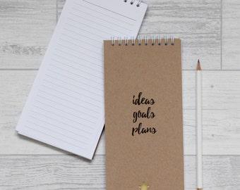 Goals Notepad - Jotter List Pad