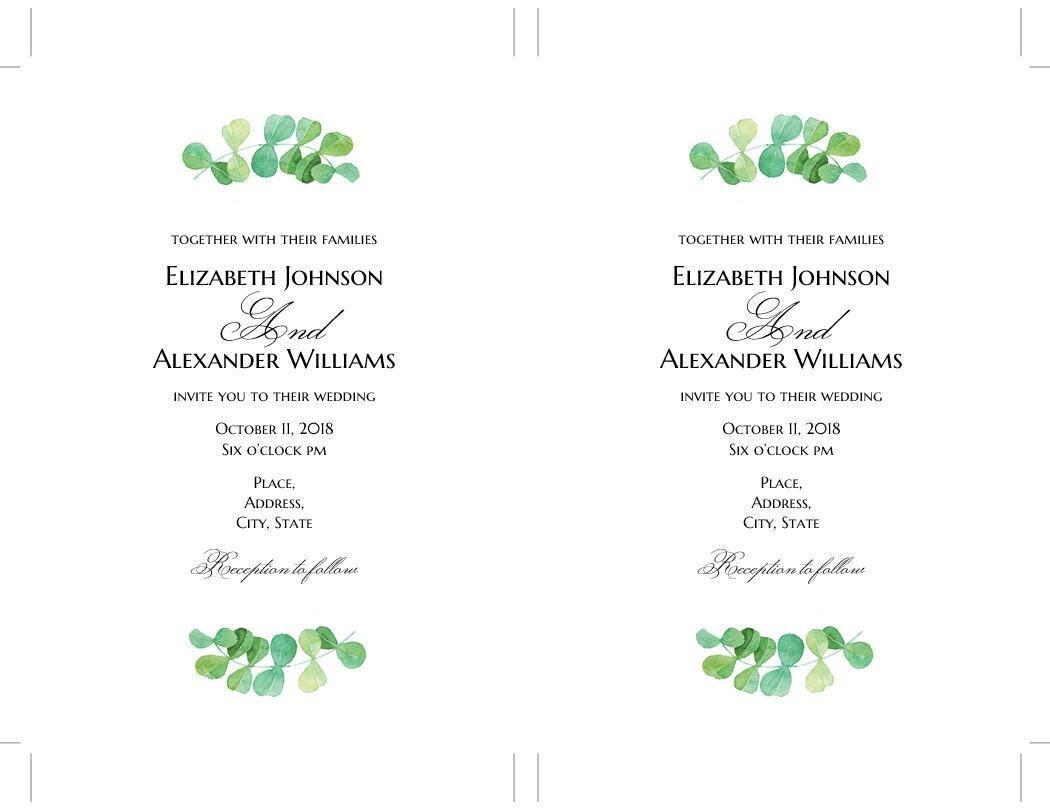 Summer wedding invitation template Garden invitation download ...