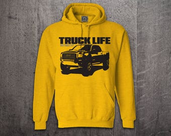 Trucker hoodie, Truck Life hoodies, Jeep hoodies, Unisex hoodies, raised trucks hoodies, Cars t shirts GMC t shirts Funny t shirt Motomotive