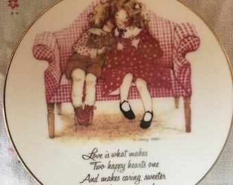 Holly Hobbie Plate - Love