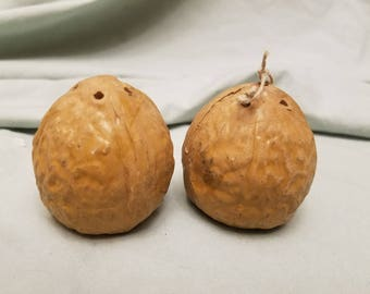 Pair of walnuts Nuts Salt and pepper shakers
