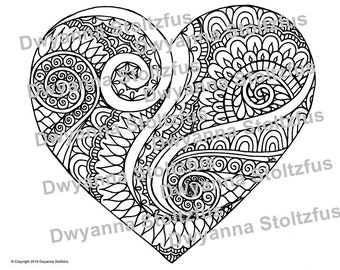 Love coloring page Etsy
