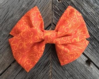 Orange fabric bow
