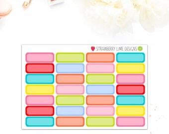 Colour Burst Plain Labels