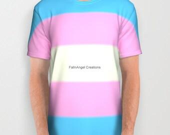 Transgender Pride Flag T-Shirt, Multiple Sizes Available!
