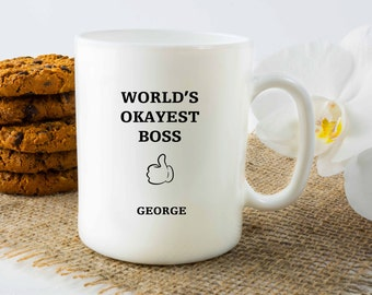 Personalized Mug, Customized Mug, Boss Mug