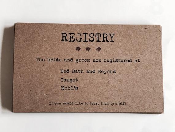Wedding Registry Invitation: Set 25 Wedding Registry Floral Registry Lavender