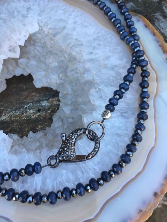 Jade Sapphire & Hematite Necklace