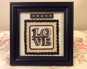 Homemade - Valentine 'Framed Quote/Saying'