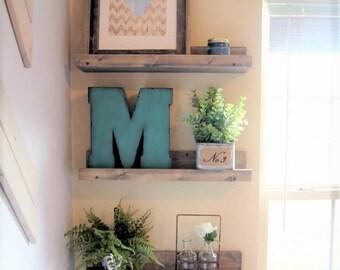 Ledge shelf, set of 2 rustic floating shelves, wood picture shelf, wall shelves, wood shelves, wood ledge shelving, rustic picture ledge