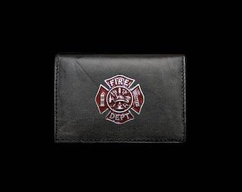 Fireman Business Card Case – Red