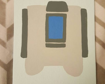 Overwatch Bastion Inspired Canvas Panel