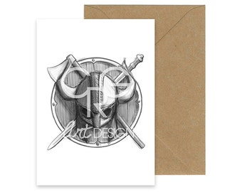 The Viking Greeting Card with Envelope