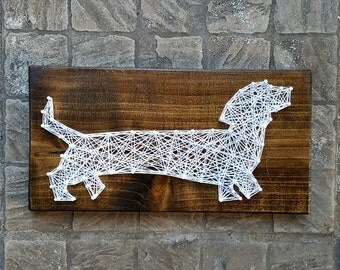 Daschund Weiner Dog String Art / Made to Order Home Decor