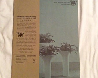 Copy Mid Century Modern Architectural Pottery Price List Catalog Tackett 1966 18 Pages