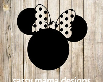 Minnie Mouse Polka Dot bow SVG, PNG, GSP design, instant download