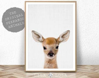 Deer Print, Woodland Animals, Nursery Wall Art Decor, Baby Shower Gift, Girl, Boy, Large Printable Digital Download, Baby Deer, Fawn Head