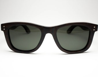 Premium Wayfarer - Dark Brown Eco-Friendly Wooden Sunglasses by Möbius Collection