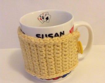 Plain and Simple Mug Warmer in Cornmeal, Mug Cozy, Mug Sweater