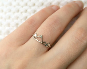 Mountain Ring - Ajustable Ring - Silver Mountain - Dainty Ring - Gift for Her - Mother's Day - Sister Gift - Sister Jewelry - Mother Gift