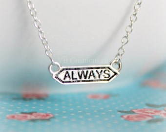 Always Necklace - Harry Potter Necklace - Bar Necklace - Harry Potter Jewelry - Personalized Jewelry - Tiny Bar - Minimalist - Gift for her