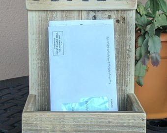 Mail Holder made from Reclaimed and Repurposed Pallet Wood