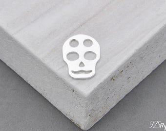 925 Sterling Silver skull Pendant, Silver skull, skull Pendant, skull, skull charm, 925 Silver Charm, cranium