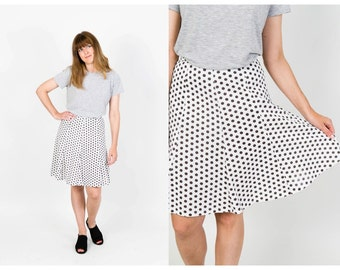 Vintage polka dot flared skirt