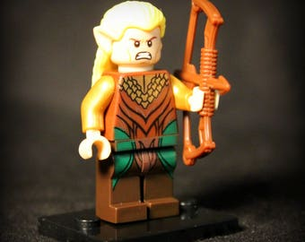 Legolas Greenleaf (Prince du Royaume Woodland) Custom Seigneur des anneaux figurine.  LEGO Compatible.