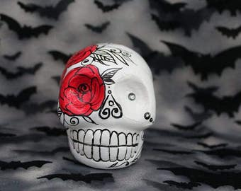 White Skull/ Red Rose **ONE OF A KIND**
