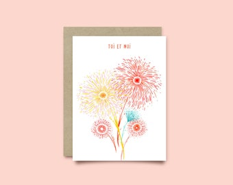 You and me - Fireworks card