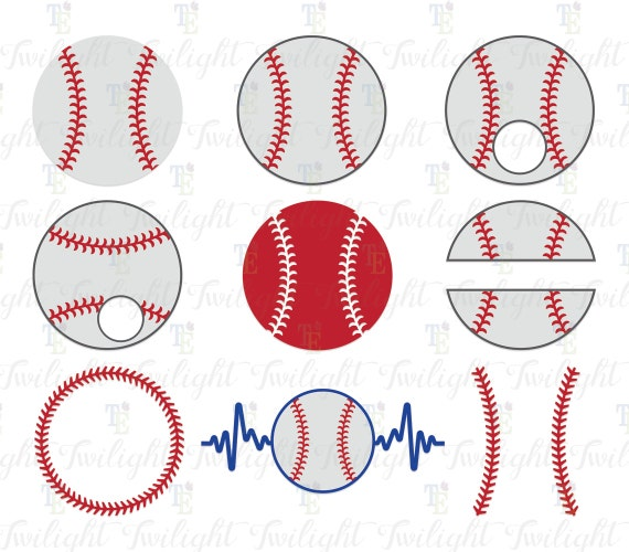 Baseball Cut Files Baseball Svg Files Baseball Dxf File