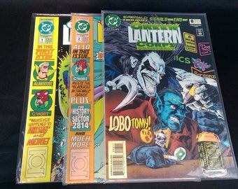 Lot of 3 DC Green Lantern Corps Quarterly #1 Summer 1992, #2 1992 & #8 Spring 94