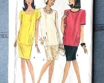 UNCUT Vintage Vogue Maternity Sewing Pattern | 8299 Sizes 12-14-16 | Banded Dress with Pleats |