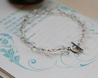 Crystal Quartz Wire Wrapped Bracelet