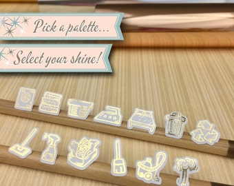 Foiled Icon Stickers | Domestic Duties Foiled Sampler | 56 Stickers Total