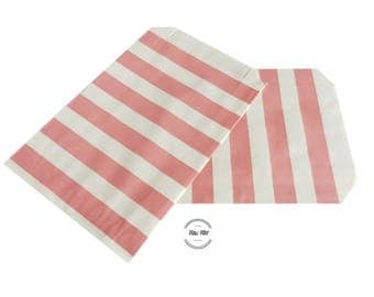 paper bags with STRIPES pink white