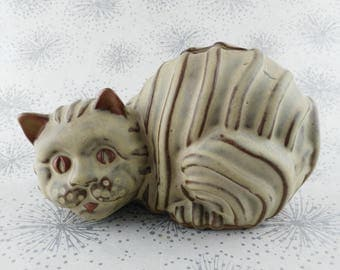 Modernist Cat Ornament -  -  Cat Money Box - Gift  Cat Lover - Kitsch Cat Money Bank - Gift for Women Her - Cat Collectable