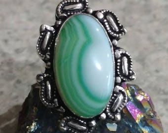 CLEARANCE *Green Onyx Ring, Size 9 1/2